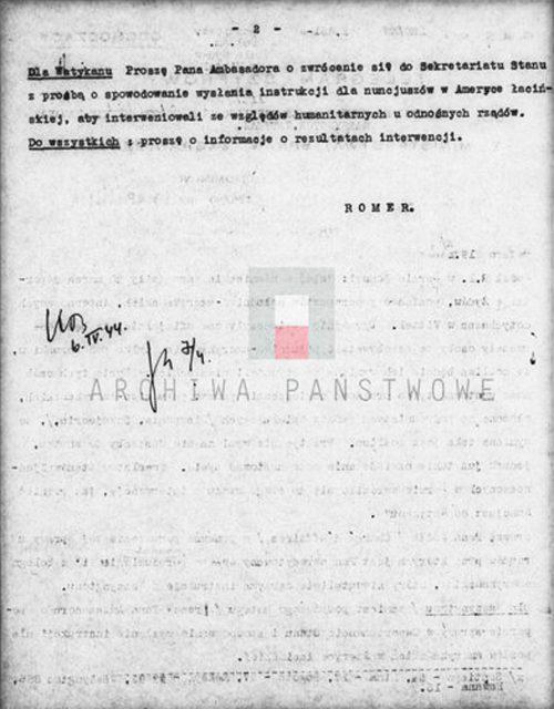 <p>Jedna z wielu depesz Polskiego Rządu skierowana do placówek polskich z prośbą o wsparcie akcji paszportowej<br /> <small>Instytut Hoovera, 800_420_266</small></p>