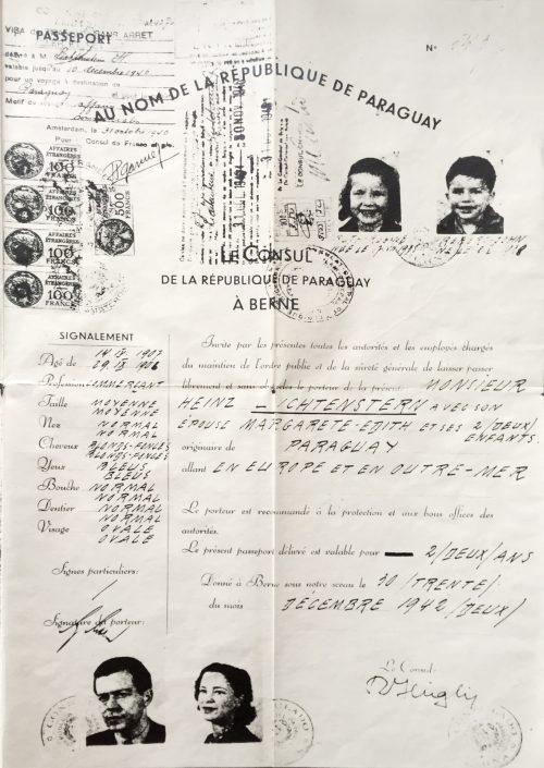 <p>The Lichtenstern family's passport of Paraguay</p>