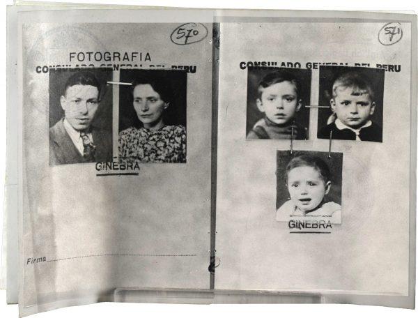<p>Paszport Peru wystawiony dla Chaima Szlamy Weksberga z rodziną<br /> <small>Archiwum Yad Vashem, dr Abraham Silberschein Archive, sygn. M20/165</small></p>