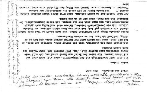 <p>A handwritten note regarding efforts to obtain the passport</p>